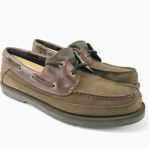Sperry Top Sider Brown Leather Boat Shoes 0777503